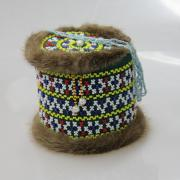Шкатулка бисерная с крышкой